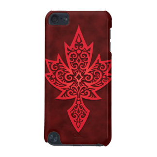 Intricate Maple Leaf - deep red iPod Touch 5G Covers