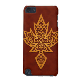 Intricate Maple Leaf - golden red iPod Touch 5G Case