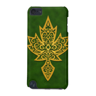 Intricate Maple Leaf - green iPod Touch (5th Generation) Cover