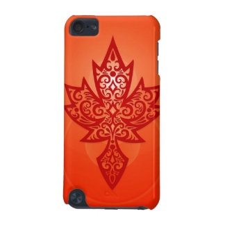 Intricate Maple Leaf - red iPod Touch (5th Generation) Cases