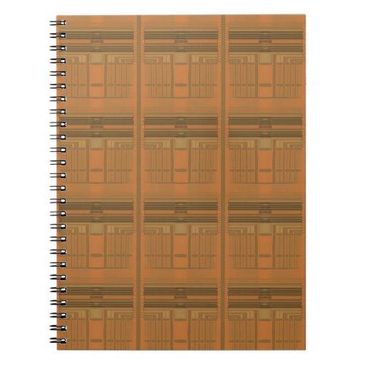 Intricate Orange Deco Geometric Spiral Notebook