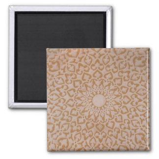 Intricate Ottoman Islamic design. Arabesque 2 Inch Square Magnet