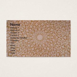 Intricate Ottoman Islamic design. Arabesque motif Business Card