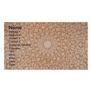 Intricate Ottoman Islamic design. Arabesque motif Business Cards