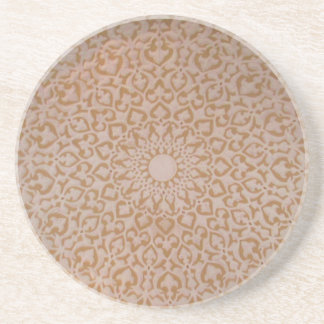 Intricate Ottoman Islamic design. Arabesque motif Drink Coaster