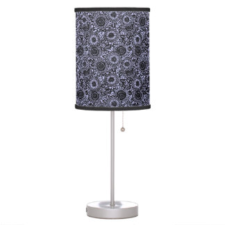 Intricate Overall Floral on ANY COLOR BACKGROUND Table Lamp