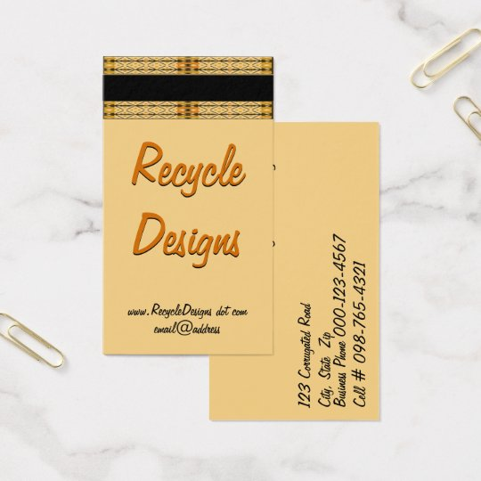 Intricate Pattern Border Artwork Business Card