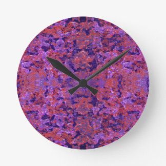 Intricate Patterned Textured Round Clock