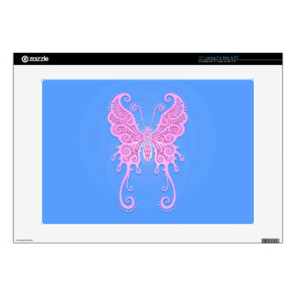Intricate Pink and Blue Butterfly Skin For Laptop