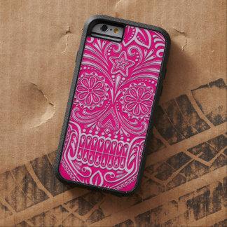 Intricate Pink Sugar Skull Tough Xtreme iPhone 6 Case