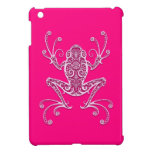 Intricate Pink Tree Frog Cover For The iPad Mini