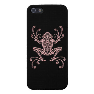 Intricate Pink Tree Frog Cover For iPhone 5
