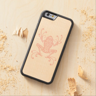 Intricate Pink Tree Frog Carved® Maple iPhone 6 Bumper