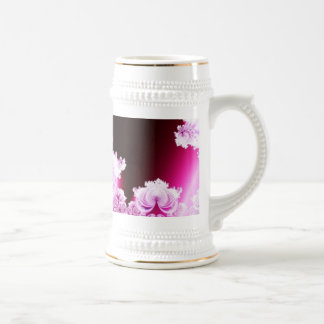 Intricate Pretty Pink and Purple Fractal Beer Stein