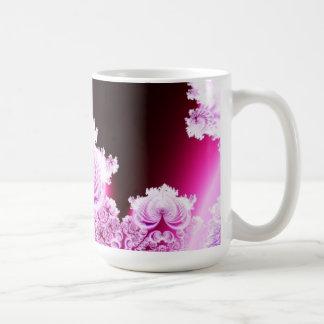 Intricate Pretty Pink and Purple Fractal Coffee Mug