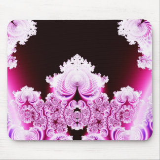 Intricate Pretty Pink and Purple Fractal Mouse Pad