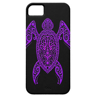 Intricate Purple and Black Sea Turtle iPhone 5 Cases