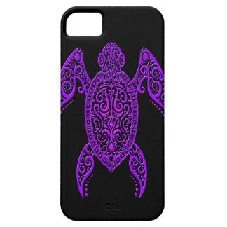 Intricate Purple and Black Sea Turtle iPhone SE/5/5s Case