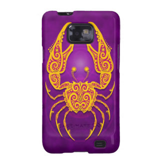 Intricate Purple and Yellow Tribal Cancer Galaxy SII Case