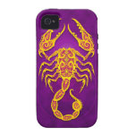 Intricate Purple and Yellow Tribal Scorpio Case-Mate iPhone 4 Case