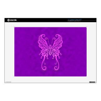 "Intricate Purple Butterfly 15"" Laptop Skins"