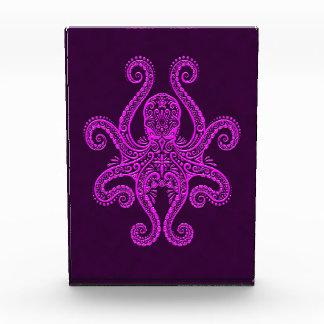 Intricate Purple Octopus Acrylic Award