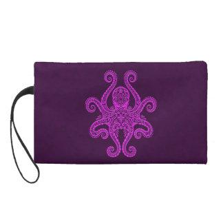 Intricate Purple Octopus Wristlet