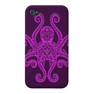 Intricate Purple Octopus iPhone 4/4S Covers
