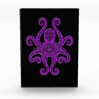 Intricate Purple Octopus on Black Award