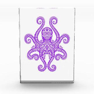 Intricate Purple Octopus on White Acrylic Award