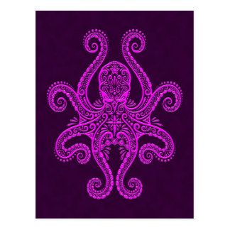 Intricate Purple Octopus Postcard