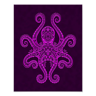 Intricate Purple Octopus Posters