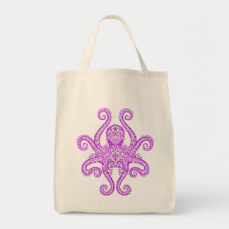 Intricate Purple Octopus Tote Bag