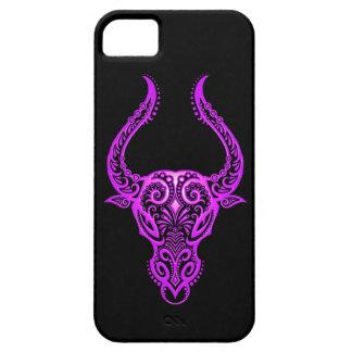 Intricate Purple Taurus Zodiac on Black iPhone SE/5/5s Case