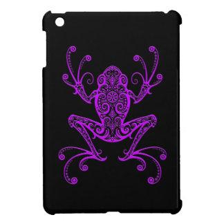 Intricate Purple Tree Frog on Black iPad Mini Cases