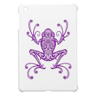 Intricate Purple Tree Frog on White Case For The iPad Mini