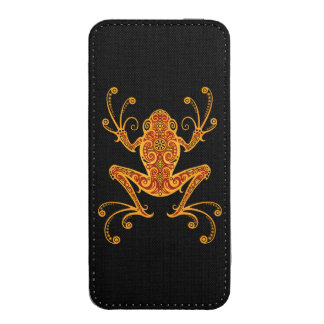 Intricate Red and Yellow Tree Frog iPhone 5 Pouch