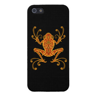 Intricate Red and Yellow Tree Frog Case For iPhone 5/5S