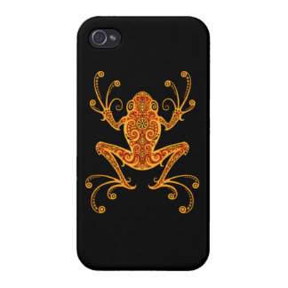 Intricate Red and Yellow Tree Frog Cover For iPhone 4