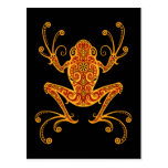 Intricate Red and Yellow Tree Frog Postcards