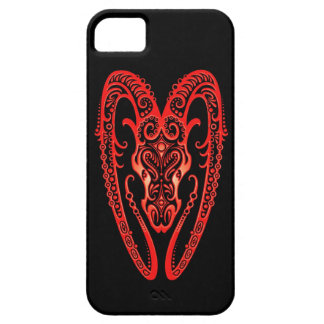 Intricate Red Aries Zodiac on Black iPhone SE/5/5s Case