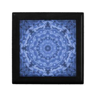 Intricate Royal Blue Kaleidoscope Jewelry Box