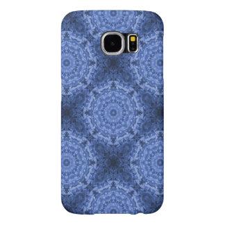Intricate Royal Blue Kaleidoscope Pattern Samsung Galaxy S6 Case