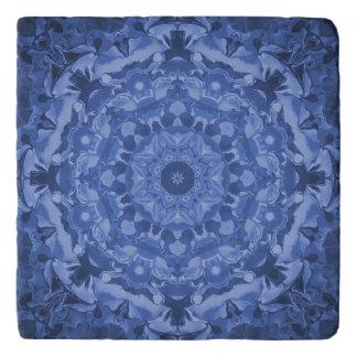 Intricate Royal Blue Kaleidoscope Trivet