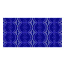 Intricate Royal Blue Pattern Card
