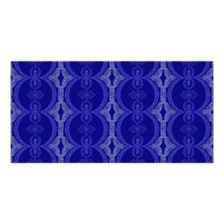Intricate Royal Blue Pattern Card