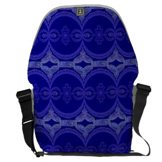 Intricate Royal Blue Pattern Courier Bag