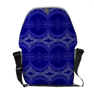 Intricate Royal Blue Pattern Messenger Bag