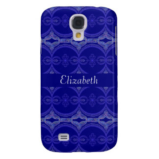 Intricate Royal Blue Pern Galaxy S4 Cover