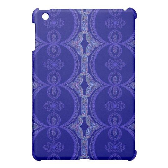 Intricate Royal Blue Pern iPad Mini Covers